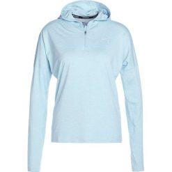 Nike Performance RUNNING HOODY DRY Koszulka sportowa ocean bliss/heather/reflective silver. Niebieskie topy sportowe damskie Nike Performance, xl, z elastanu, z długim rękawem. W wyprzedaży za 188,30 zł.