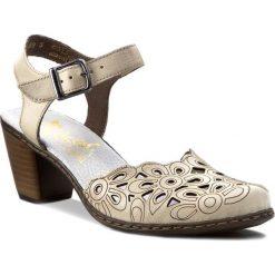 Rzymianki damskie: Sandały RIEKER – 40975-80 Beżowy