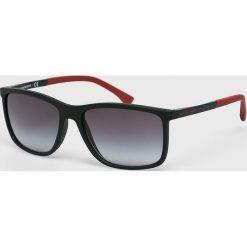 Emporio Armani - Okulary. Brązowe okulary przeciwsłoneczne męskie wayfarery Emporio Armani. Za 559,90 zł.