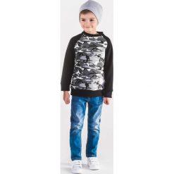 Bluzy chłopięce rozpinane: BLUZA DZIECIĘCA BEZ KAPTURA KB003 - CZARNA/MORO