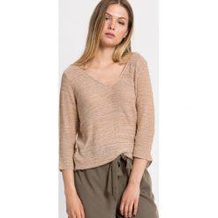 Only - Sweter Cicley. Szare swetry klasyczne damskie marki ONLY, s, z bawełny, casualowe, z okrągłym kołnierzem. W wyprzedaży za 39,90 zł.