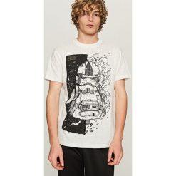 T-shirty męskie z nadrukiem: T-shirt z nadrukiem star wars – Biały