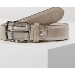 Paski damskie: Vanzetti Pasek weiß silber metallic