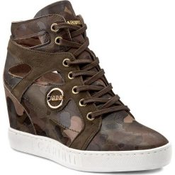 Sneakersy CARINII - B3909 F33-I43-000-B88. Brązowe sneakersy damskie Carinii, z materiału. W wyprzedaży za 289,00 zł.