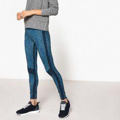 Legginsy sportowe. Niebieskie legginsy sportowe damskie La Redoute Collections, l, z elastanu, z standardowym stanem. Za 151,16 zł.