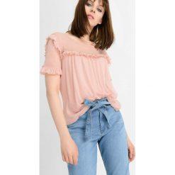 T-shirty damskie: Koszulka z falbanką nad biustem