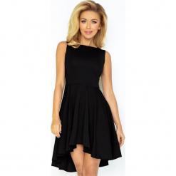 33-4 lacosta - ekskluzywna sukienka z dłuższym tyłem - czarna. Czarne sukienki z falbanami marki numoco, l. Za 134,00 zł.