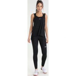 Nike Performance DRY TANK ELASTIKA  Koszulka sportowa black/black/cool grey. Czarne topy sportowe damskie Nike Performance, xl, z materiału. W wyprzedaży za 125,10 zł.