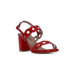 Sandały Albano  GLASS ROSSO. Czerwone sandały damskie Albano. Za 408,18 zł.