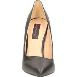 CZÓŁENKA CASU PA168. Brązowe buty ślubne damskie Casu, na koturnie. Za 99,99 zł.