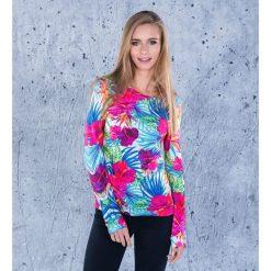 Bluzy damskie: Bluza bawełniana damska Tropical Flowers