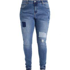 City Chic JEAN PATCH WORK Jeansy Slim Fit mid denim. Niebieskie jeansy damskie marki City Chic, z bawełny. W wyprzedaży za 186,45 zł.