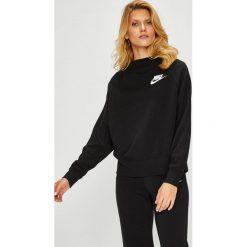 Nike Sportswear - Bluza. Czarne bluzy z nadrukiem damskie Nike Sportswear, l, z bawełny, bez kaptura. Za 239,90 zł.
