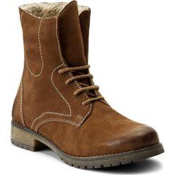 Botki LASOCKI - WI05-FIGURA-01 Brązowy. Brązowe buty zimowe damskie Lasocki, z nubiku. Za 199,99 zł.