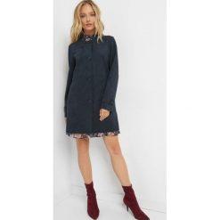 Płaszcz z zamszu ekologicznego. Niebieskie płaszcze damskie pastelowe Orsay, z elastanu, eleganckie. W wyprzedaży za 160,00 zł.