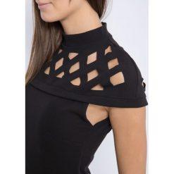 Sukienki hiszpanki: Sukienka Euphory ze stójką i pergolą na karczku czarna