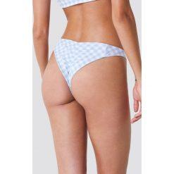 Hot Anatomy Dół bikini w kratkę z marszczeniem - Black,White,Multicolor. Białe bikini marki Hot Anatomy. Za 80,95 zł.