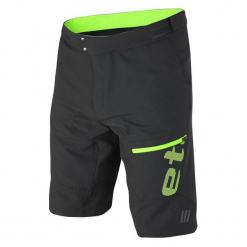 Etape Spodenki Rowerowe Męskie Freeride, Czarno-Zielony L. Czarne odzież rowerowa męska marki Etape, w paski, sportowe. W wyprzedaży za 319,00 zł.