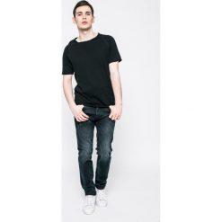 Jack & Jones - Jeansy 12129769. Czarne jeansy męskie slim marki Jack & Jones, l, z bawełny, z okrągłym kołnierzem. W wyprzedaży za 99,90 zł.