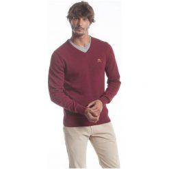 Polo Club C.H..A Sweter Męski L Burgundowy. Czerwone swetry klasyczne męskie marki Polo Club C.H..A, l, dekolt w kształcie v. W wyprzedaży za 259,00 zł.