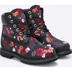 Timberland - Botki 6IN Premium Boot. Czarne buty zimowe damskie marki Timberland, z materiału, na obcasie, na sznurówki. W wyprzedaży za 599,90 zł.