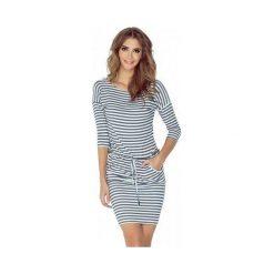 Sukienki: Isabelle Sukienka sportowa - szare gładkie paski drukowane
