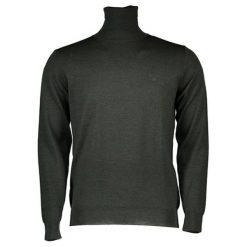 Golfy męskie: Golf w kolorze ciemnozielonym