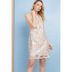 Odzież damska: Koronkowa sukienka bez rękawów