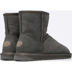 Emu Australia - Botki Stinger Mini. Czarne buty zimowe damskie EMU Australia, z materiału, z okrągłym noskiem, na wysokim obcasie, na obcasie, na klamry. Za 639,90 zł.