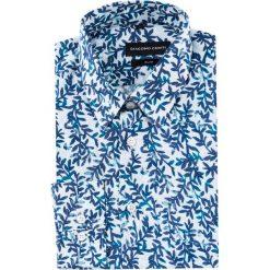 Koszula SIMONE slim KDWS000488. Niebieskie koszule męskie na spinki Giacomo Conti, na lato, m, z wiskozy, z klasycznym kołnierzykiem. Za 199,00 zł.