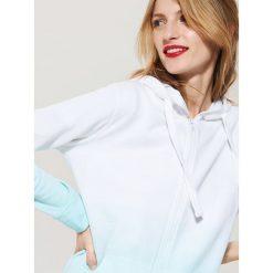Bluzy rozpinane damskie: Bluza z efektem cieniowania - Niebieski