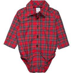 Jeansy dziewczęce: Carter's BOY HOLIDAY PLAID SUSPENDER BABY SET  Jeansy Straight Leg red