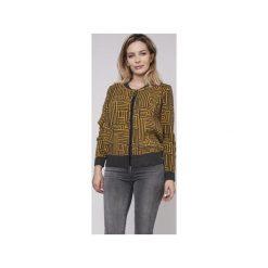 Rozpinany sweter, SWE151 grafit/żółty MKM. Żółte swetry rozpinane damskie Mkm swetry, l, z dzianiny. Za 148,00 zł.
