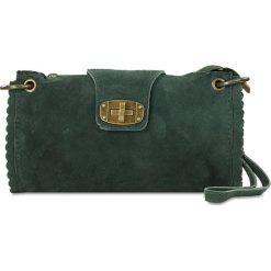 """Puzderka: Skórzana kopertówka """"Cristina"""" w kolorze zielonym – 22 x 13,5 x 2 cm"""