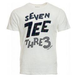 Pepe Jeans T-Shirt Męski Abbot L Biały. Białe t-shirty męskie Pepe Jeans, l, z nadrukiem, z jeansu. Za 195,00 zł.