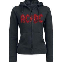 Bluzy rozpinane damskie: AC/DC Ballbreaker Bluza z kapturem rozpinana damska czarny