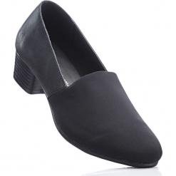 Wygodne czółenka z pianką YouFoam bonprix czarny. Czarne buty ślubne damskie bonprix, na obcasie. Za 89,99 zł.