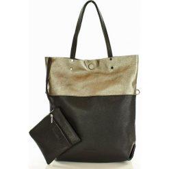 Torebka skórzana Brigida  MAZZINI czarna. Czarne torebki klasyczne damskie MAZZINI, ze skóry, duże. Za 279,00 zł.