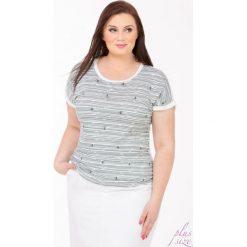 T-shirty damskie: T-shirt z kotwicami Plus