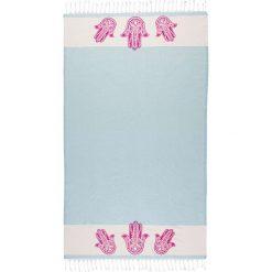 Chusta hammam w kolorze błękitnym - 180 x 100 cm. Czarne chusty damskie marki Hamamtowels, z bawełny. W wyprzedaży za 56,95 zł.