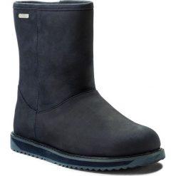 Buty EMU AUSTRALIA - Paterson Classic Leather Lo W11620 Midnight. Niebieskie buty zimowe damskie EMU Australia, z nubiku, na niskim obcasie. W wyprzedaży za 479,00 zł.