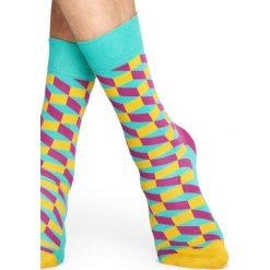 Happy Socks - Skarpetki Filled Optic. Szare skarpetki damskie Happy Socks, z bawełny. Za 39,90 zł.