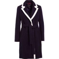 Płaszcze damskie: J.CREW TIPPED WRAP COAT STADIUM CLOTH Płaszcz wełniany /Płaszcz klasyczny navy