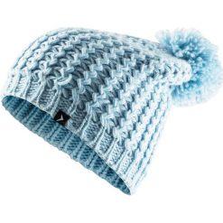 Czapka damska CAD610 - jasny niebieski - Outhorn. Niebieskie czapki zimowe damskie Outhorn, na jesień, ze splotem. Za 34,99 zł.