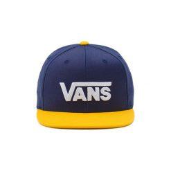 Czapki z daszkiem Vans  Drop V Snapback Hat (dress Blues Old Gold). Szare czapki damskie marki Vans, z materiału. Za 140,71 zł.