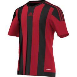 T-shirty męskie: Adidas Koszulka piłkarska męska Striped 15 czarno-czerwona r. M (AA3726)