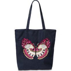 """Shopper bag damskie: Torba shopper """"Motyl"""" bonprix ciemnoniebiesko-kolorowy"""