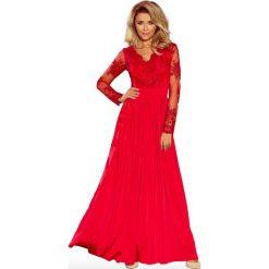 Czerwona Wieczorowa Sukienka Maxi z Koronkową Górą. Czerwone długie sukienki Molly.pl, na imprezę, l, z koronki, eleganckie. Za 368,90 zł.