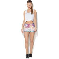 Spodnie damskie: Colour Pleasure Spodnie damskie CP-020 57  różowo-biało-niebieskie r. XS-S
