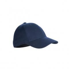 Czapka z daszkiem baseball BA 550. Niebieskie czapki z daszkiem damskie KIPSTA, z bawełny. Za 29,99 zł.